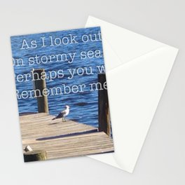 Wise Seagull Deep Contemplation Stationery Cards