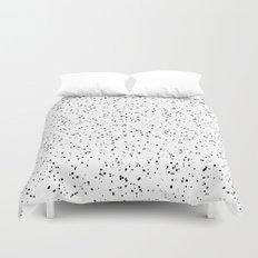 Speckles I: Black on White Duvet Cover