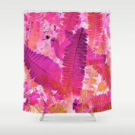 Tropicana foliage Shower Curtain