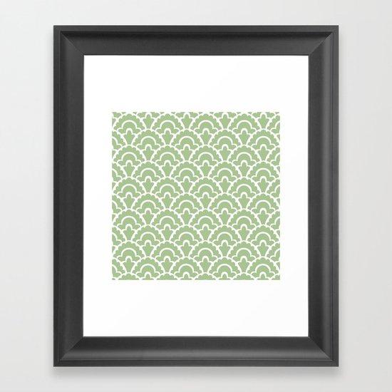 Fan Pattern Nile Green 113 by tonymagner