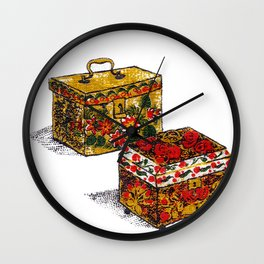 the Yellow Boxes Wall Clock