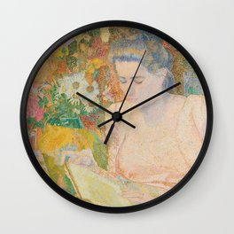 Portrait of Mrs Marie Jeannette de Lange (1900) by Jan Toorop Wall Clock