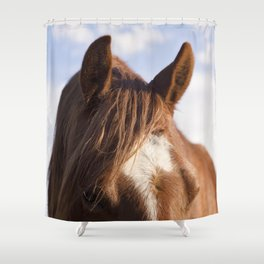 Modern Horse Print Shower Curtain