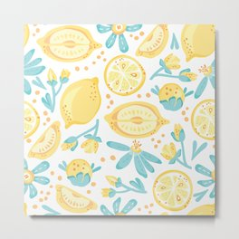 Lemons, Lemons Everywhere Metal Print