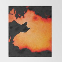 Halloween Cat Throw Blanket