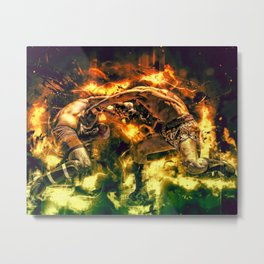 Fight Night Metal Print