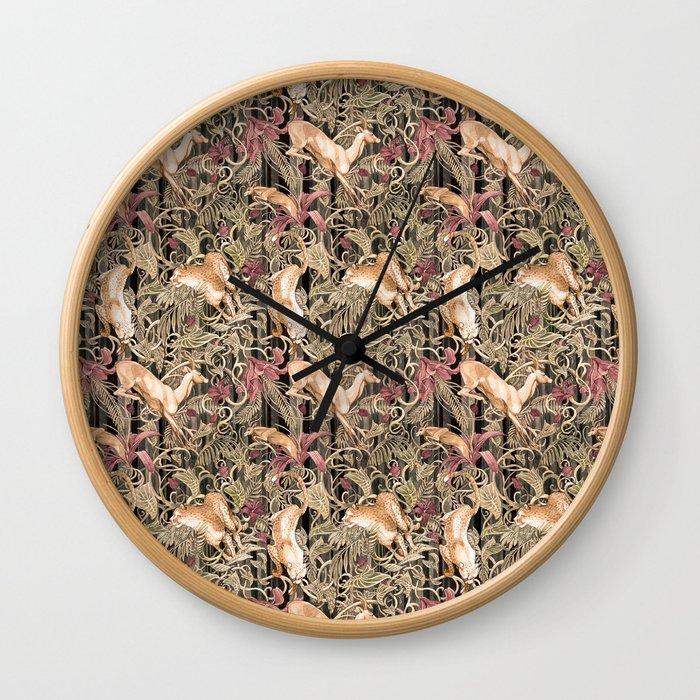 Wild life pattern Wall Clock