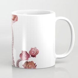Floral Octopus Tentacles with Roses Coffee Mug