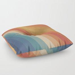 Retro 70s Sunrays Floor Pillow