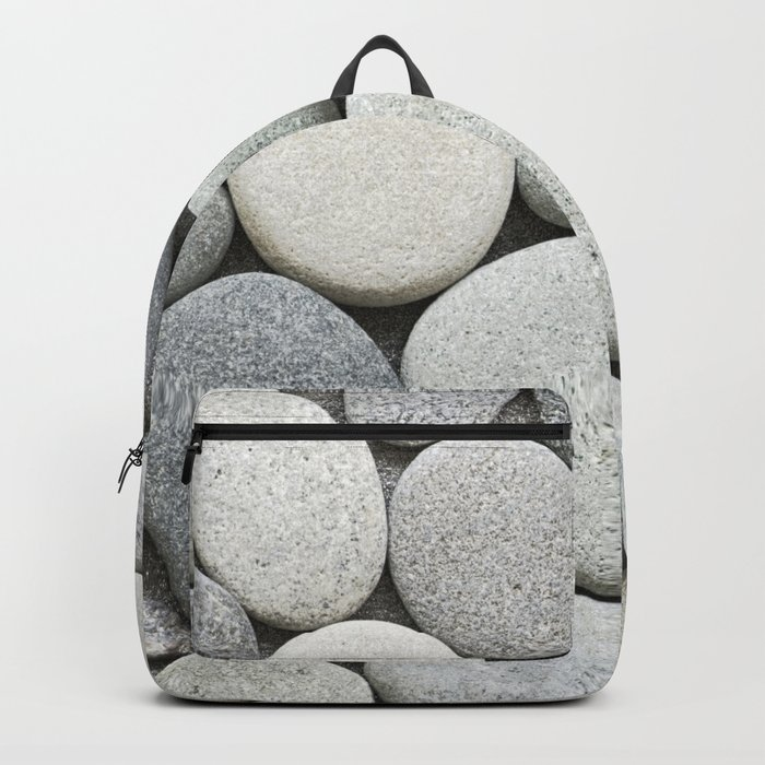 Grey Beige Smooth Pebble Collection Backpack
