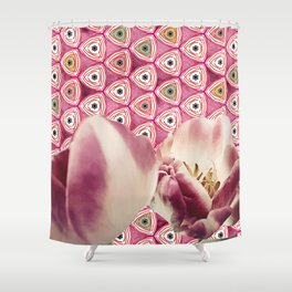 chiang candies & tulips Shower Curtain
