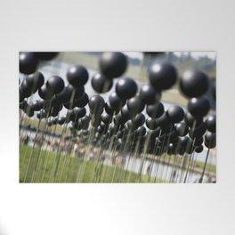 Parisian Photograph Outdoor Art Installation Shinny Black Balls  Welcome Mat
