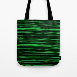 Apple Green Stripes Tote Bag