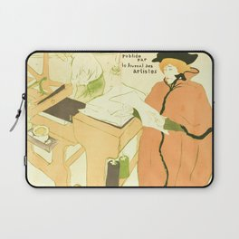 "Henri de Toulouse-Lautrec ""Couverture de l'estampe originale"" Laptop Sleeve"