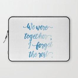 We Were Together. Laptop Sleeve