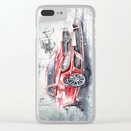 Red Beauty - Benz Clear iPhone Case