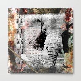 Of Elephants and Men Metal Print