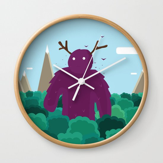 Life Swarms with Innocent Monsters Wall Clock