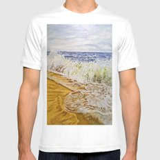 Billow White MEDIUM Mens Fitted Tee