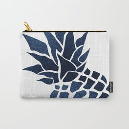 Pineapple, Big Blue, Denim Navy Carry-All Pouch