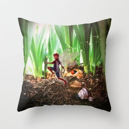 Skipping Fairy Throw Pillow