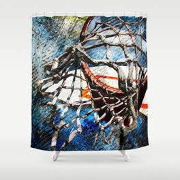 Art Of Basketball Hoop Shower Curtain