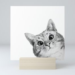 sneaky cat Mini Art Print