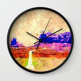 Grand Canyon Grunge Wall Clock