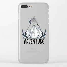 Adventure Hiking Adventure outdoor Mountain Clear iPhone Case