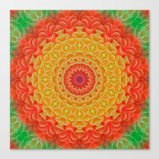 Orange/Yellow/Green K-scope Canvas Print