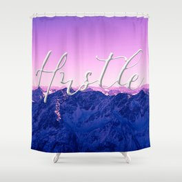 Ultra Violet Mountains - Hustle Shower Curtain