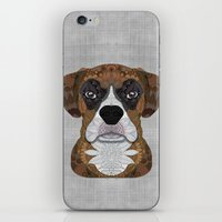 boxer iPhone & iPod Skins featuring Boxer by ArtLovePassion