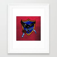 ravenclaw Framed Art Prints featuring Ravenclaw by JanaProject