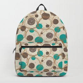 Brown and turquoise Backpack