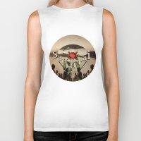 samurai Biker Tanks featuring samurai by Rosa Picnic