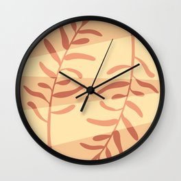 Modern minimal style olive tree branches illustration  Wall Clock