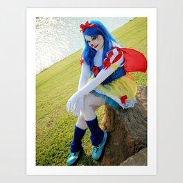Snow White Clown Art Print