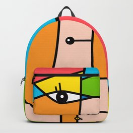 Rostros abstractos Backpack