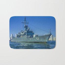 Army Ship in Caribbean Sea, Cartagena - Colombia Bath Mat