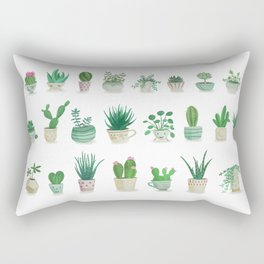 Tiny garden Rectangular Pillow