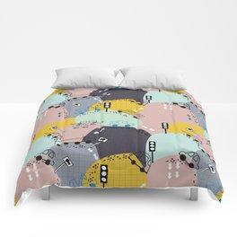 Four wheels purple Comforters