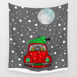 Santa Lane Wall Tapestry