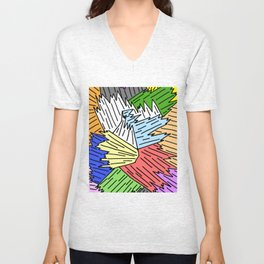 Color Shards Unisex V-Neck