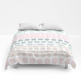 Modern pastel color geometrical scandinavian pattern Comforters