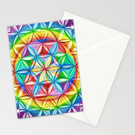 Shimmering Wheel - The Mandala Collection Stationery Cards