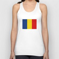 chad wys Tank Tops featuring chad country flag by tony tudor