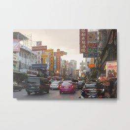 Yaowarat Road - Bangkok's Chinatown Metal Print