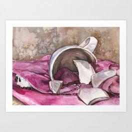 Broken Sheep Art Print