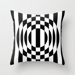 Hot Spot    Black & White Throw Pillow