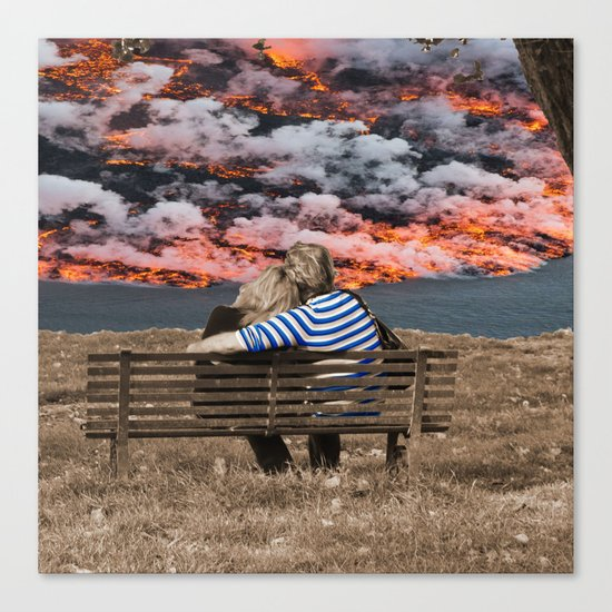 Volcano Eruption Canvas Print